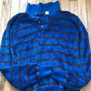 VINTAGE mens velour pullover - medium